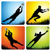 Goalkeeper — Stock Vector