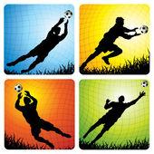 Goalkeeper — Stock Vector