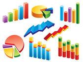 Graphs — Stock Vector