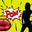Pop Art Pow — Vector de stock #4090336