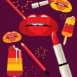 Royalty-Free Stock Vector Image: Lips