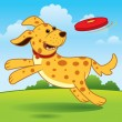 Royalty-Free Stock Imagen vectorial: Running Dog