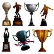 Sport Trophies — Stock Vector