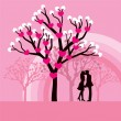 Stock Vector: Kissing Couple