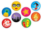 Summer Badges — Stock Vector