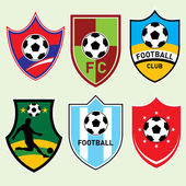 Football Shields — Stock Vector