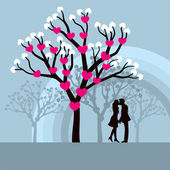 Kissing Couple — Stock Vector