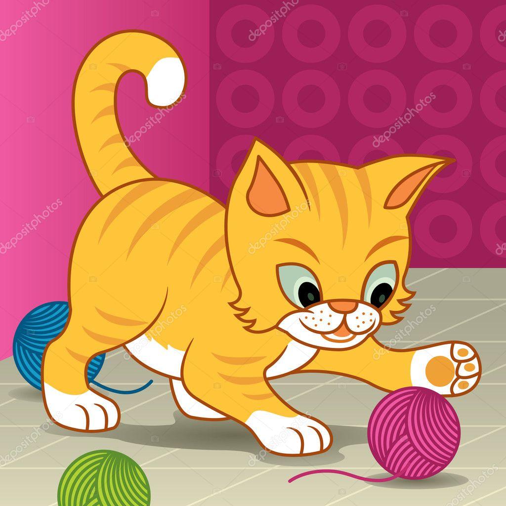 Игра нарисовать котёнка
