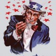 Smiling Uncle Sam — Vector de stock  #4113790