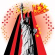 Stock Vector: Lady Liberty