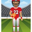 American Football Player — Stock Vector