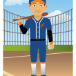Baseball Player — Stock vektor