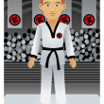 Karate Man — Stock Vector #4114307