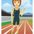 Royalty-Free Stock Imagen vectorial: Runner
