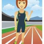 běžec — Stock vektor