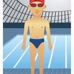 Swimmer — Stock Vector