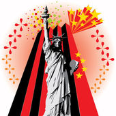 Lady Liberty — Stock Vector