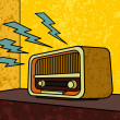 Royalty-Free Stock Vector Image: Vintage Radio
