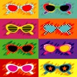 Stock Vector: Pop Art Sunglasses