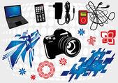 Electronics Design Set — Stock Vector