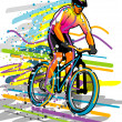 Stock Vector: Cyclist