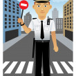 Royalty-Free Stock Vector Image: Police Officer