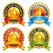 Quality Guarantee Badges — Stock Vector