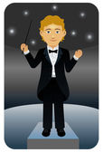 Music Conductor — Stock Vector