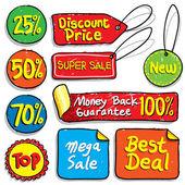 Sale Doodles — Stock Vector
