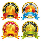 Quality Guarantee Badges — Stock Vector