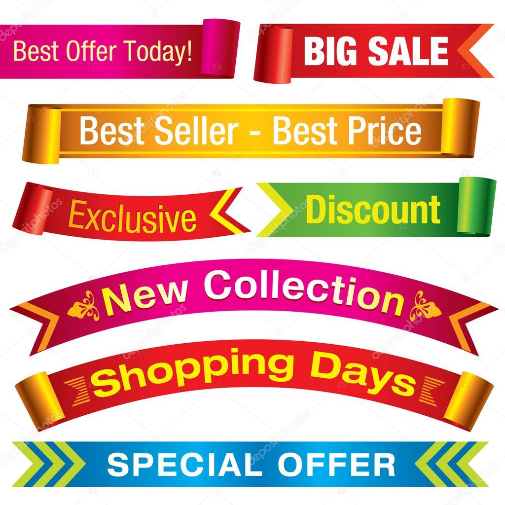 Sale Banners — Stock Vector © UltraViolet #4157288