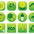 Ecology Environment Icons — Stock Vector