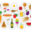 Royalty-Free Stock Imagen vectorial: Food Drinks