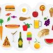 Royalty-Free Stock Vectorielle: Food Drinks
