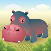 Hippo — Stock Vector