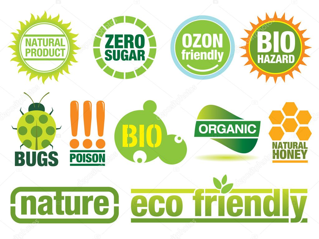 Vector set with environmental friendly icons. More ecology items in my portfolio.  Stock Vector #4165187