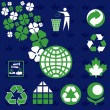 Ecology Environmental Icons — Stock Vector