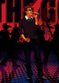 Musician band singer — Stock Vector