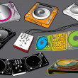 Vector de stock : DJ Set