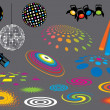 spot luces discoteca — Vector de stock