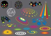 Disco Spot Lights — Stock Vector
