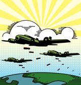 Samolotów wojskowych — Wektor stockowy