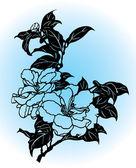 Flower Drawing — Vector de stock