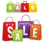 Сумки для покупок — Cтоковый вектор
