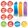 Sale stickers and labels — Stock Vector
