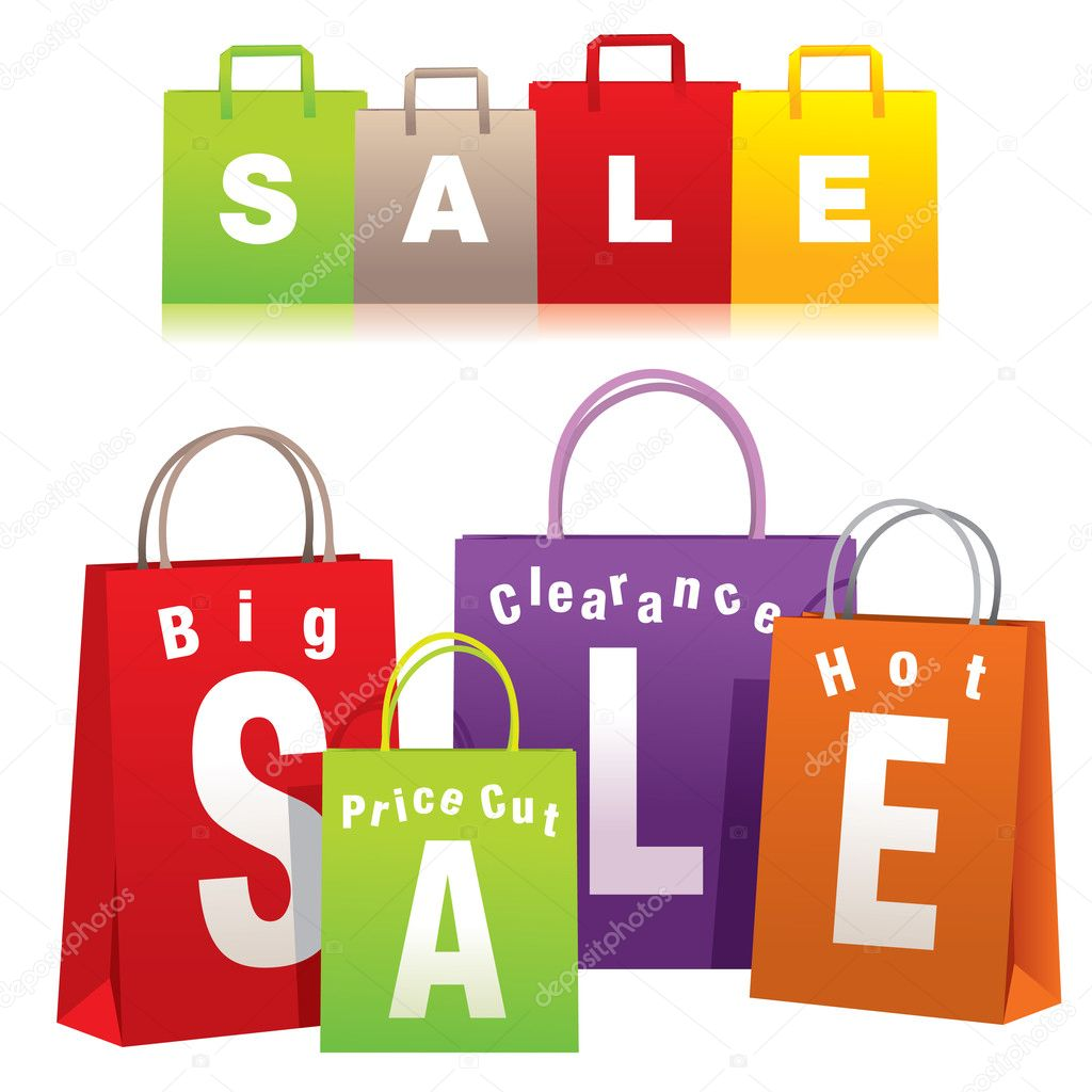 Shopping bags set.  Stock Vector #4417359