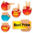 Buttons, Labels — Stock Vector #4454730