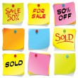 Royalty-Free Stock Vector Image: Sticky Notes