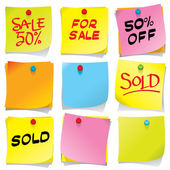 Sticky Notes — Stock Vector