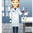 Scientist - Stock Vector